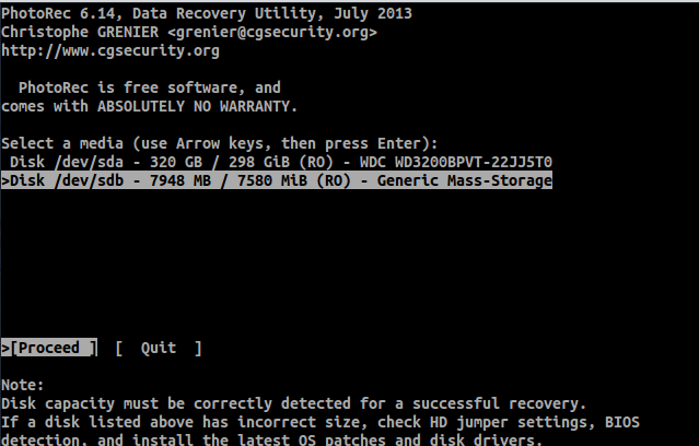 recovery data linux