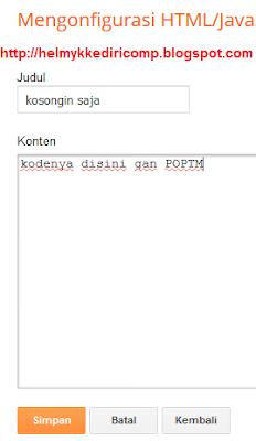 Mendaftar dan Memasang Iklan POPTM Blog