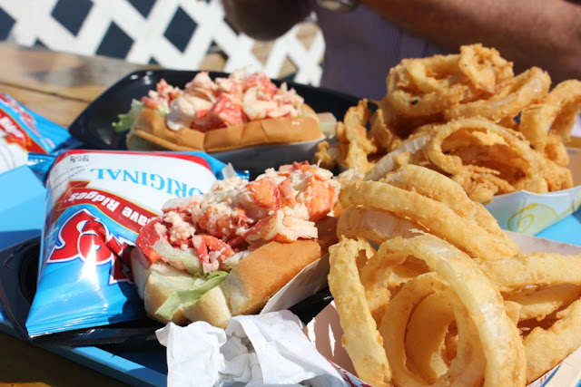 lobster roll at Shaw's on the harbor