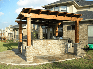 Custom Backyard Shade Arbors DFW 2