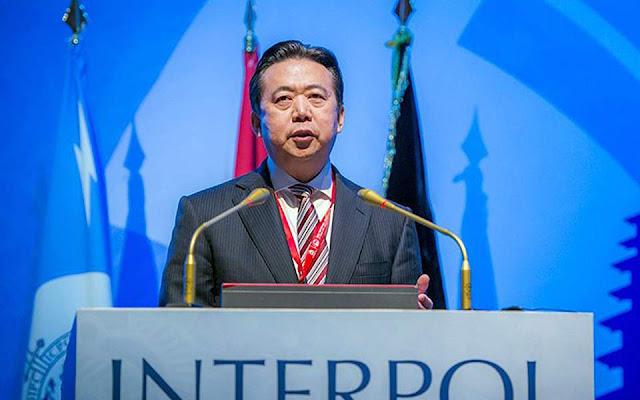 Υπό κράτηση στην Κίνα βρίσκεται ο επικεφαλής της Interpol