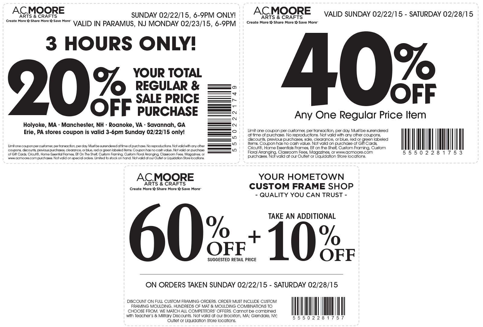 photograph about Ac Moore Printable Coupon titled discount codes - Hair salons inside wellington fl