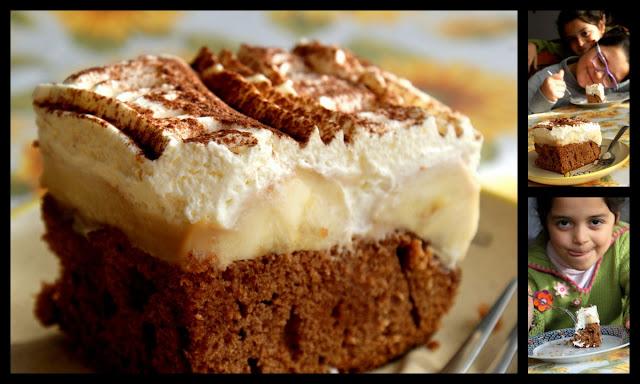 ciasto czekoladowe,piernik,karmel,jak zrobić sos karmelowy,ciasto z bananami,bananowiec,szybkie ciasto,latwe ciasto z bananami,