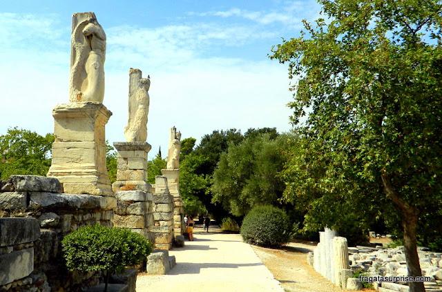 Odeon de Agripa na Ágora Antiga de Atenas