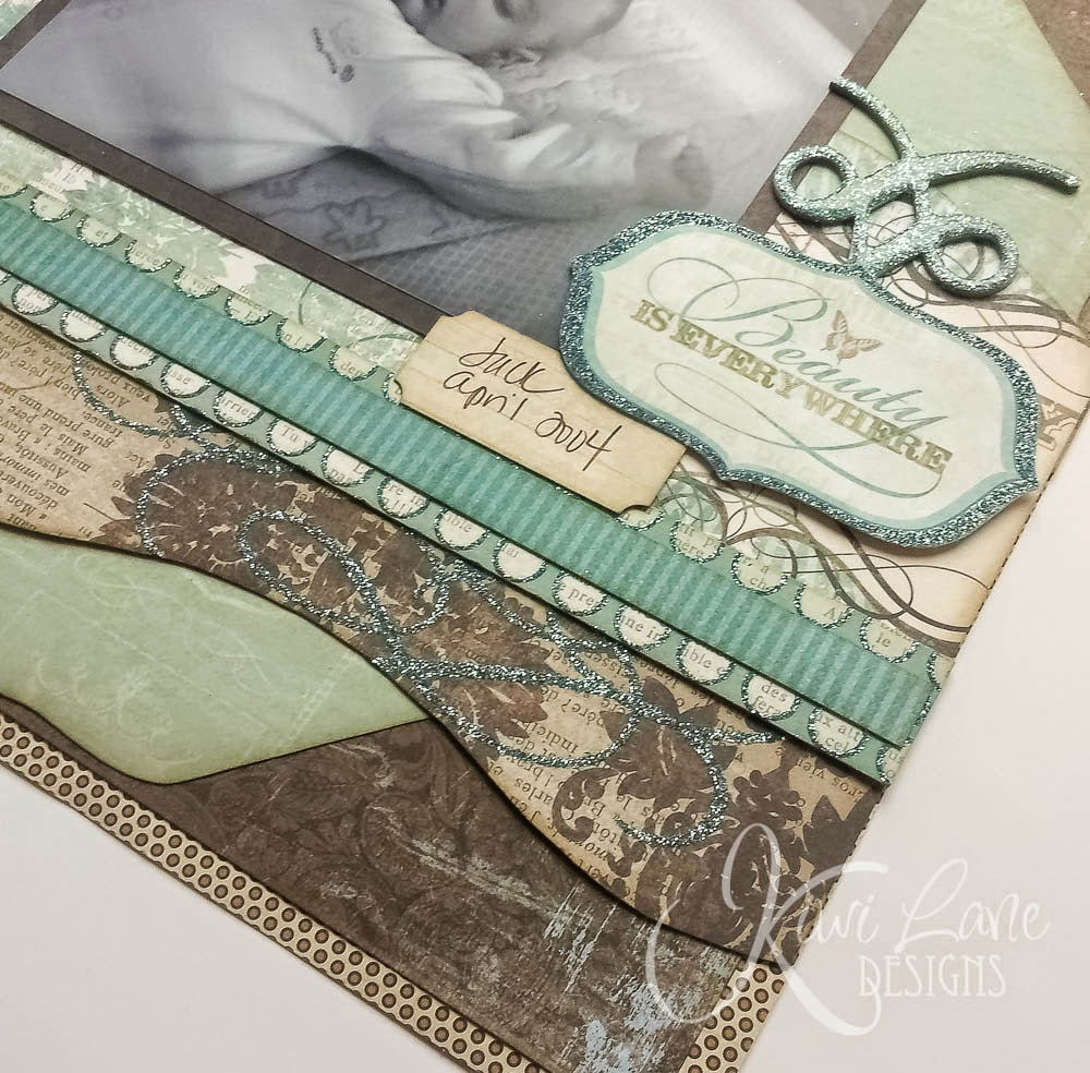 Beauty Is Everywhere layout for Kiwi Lane -- www.MightyCrafty.me