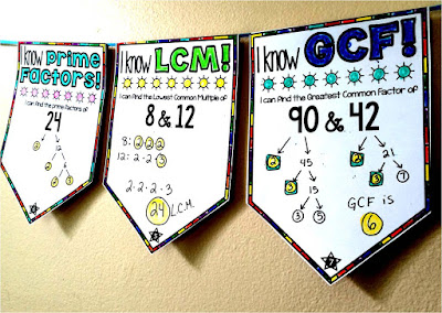 GCF and LCM pennant