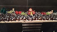 Decorated plum cake in Hotels buffet