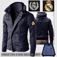Jual Jaket Bola Parka Real Madrid Type A Logo Lepas Pasang