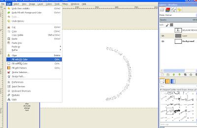 Cara Memutar Teks Melengkung di GIMP4