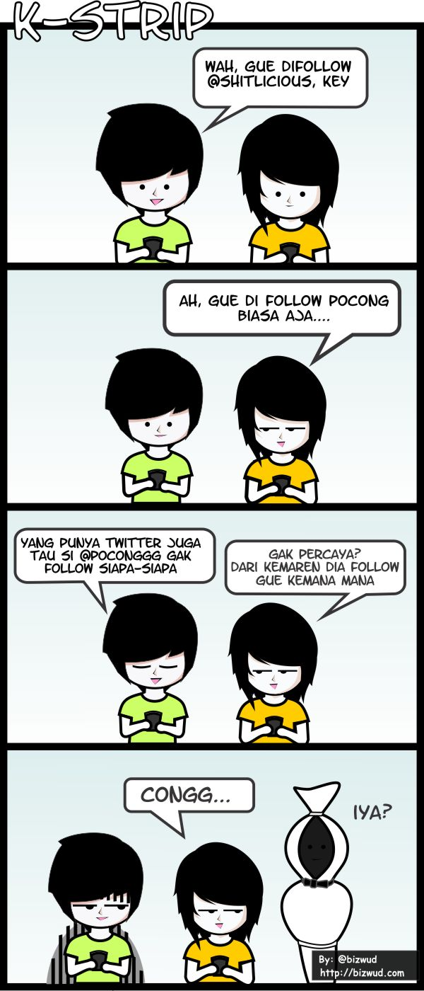 Bizwud Blog K Strip 10 Difollow Sama Pocong