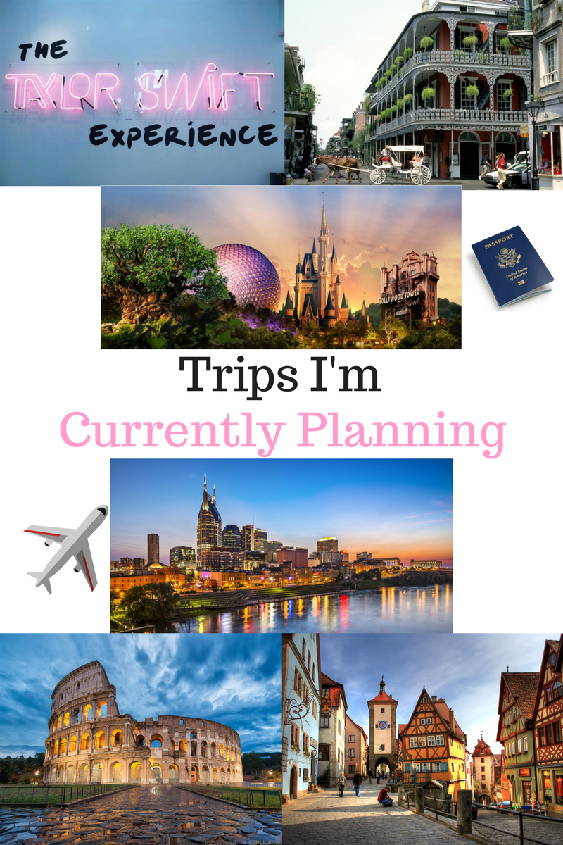 Trips I'm Currently Planning