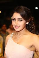 Sayesha Spicy Half Shoulder Cream Gown at Zee Telugu Apsara Awards 2017 05.JPG