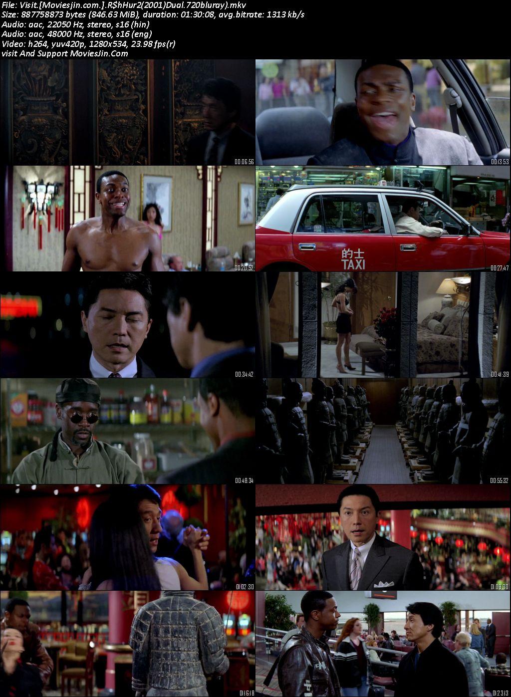Rush Hour 2 2001 300MB Movie Dual Audio Esubs 480p BluRay