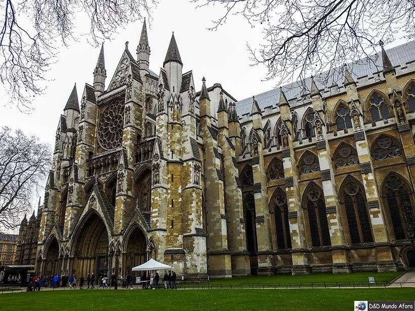 Abadia de Westminster em Londres - Pagando mico: sem falar inglês na Europa