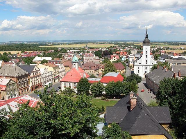miasteczko, czeskie, Javornik, widoki