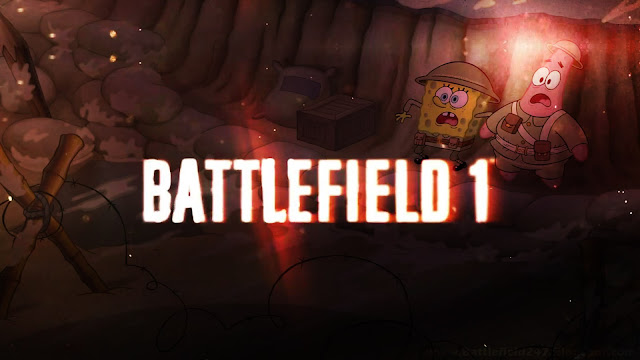 SpongeBob Feat Battlefield 1 - HD Wallpaper Background