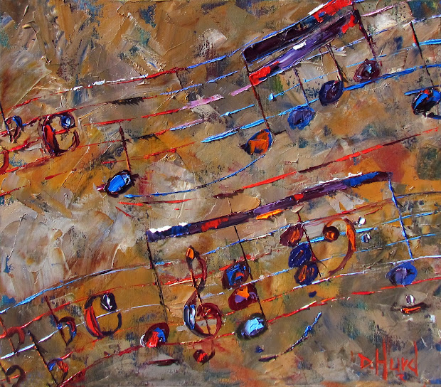 Jazz Music Abstract Art Painting