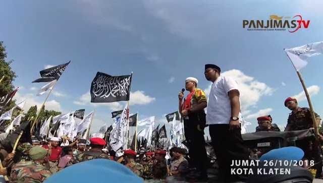 Pekik Takbir Kapolres Klaten di Aksi Bela Tauhid