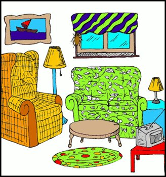 Living Room Clipart 022811 Vector Clip Art