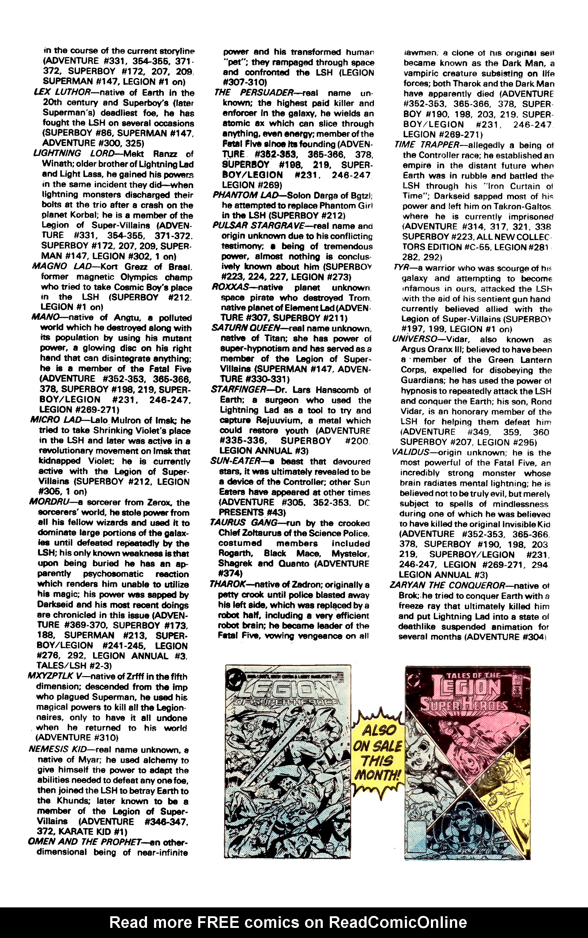 Legion of Super-Heroes (1980) _Annual_3 Page 40