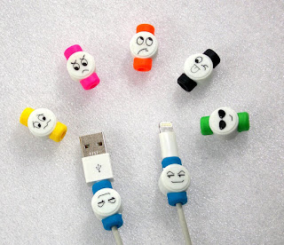 Smiley Emotions Face Stylish Funny Funky Cable Protector & Saver