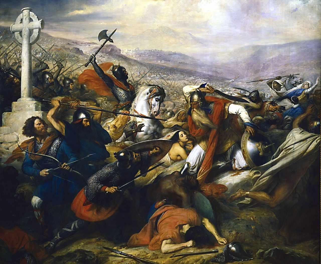 Carlos Martel em Poitiers. Charles de Steuben (1788-1856). Museu de Versailles