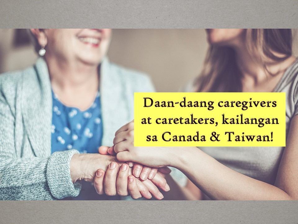 Filipino caregivers are known globally as hard-working and good-natured especially at work. Our caregivers are also known for their industry, passion, and compassion — the main reason why many companies and employers prefer Filipinos, particularly in the hospitality and service industries.  Filipino caregivers have a great capacity for hard work, given proper condition. As OFWs, we desire to raise the standard of living of our family back home. We also want a decent life for them. And if given with the right opportunities and incentives, we work very hard!  So if you want to work abroad as a caregiver or caretaker Canada and Taiwan needs you! The following are job orders approved by the Philippine Overseas Employment Administration (POEA) as of May 2019!   Jbsolis.com is NOT a recruitment agency and we are NOT processing nor accepting applications for jobs abroad. All information in this article is taken from the website of POEA — www.poea.gov.ph for general purposes only. Recruitment agencies are being linked to each job order so that interested applicants may know where to coordinate and apply for their desired position.  Interested applicant may double-check the job orders as well as the license of the hiring recruitment agencies in the POEA website to make sure everything is legal.