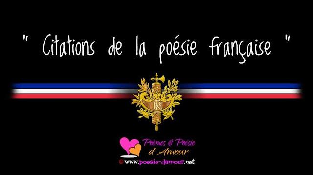 Citations sur la poésie avec flag français