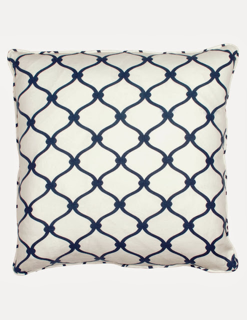 COCOCOZY Fence Pillow in Navy