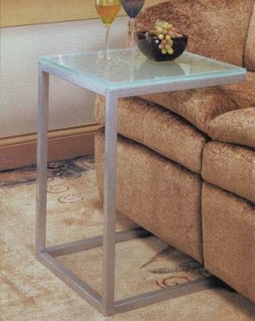 Coaster Sofa Table With Pewter And Glass Top