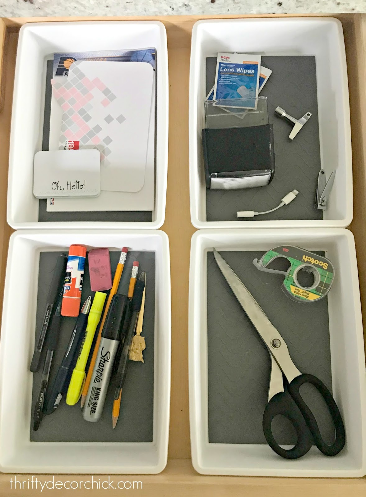Organized junk drawer tips