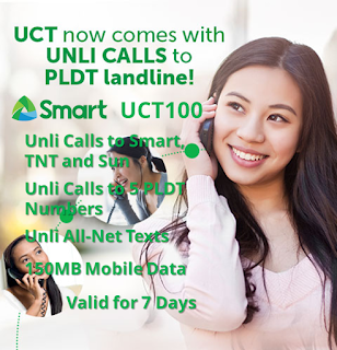 Smart UCT100 : Unli Call to PLDT, Smart, TNT, Sun + Unli All-Net Texts for 7 Days