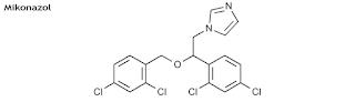 Mikonazol nitrat memperlihatkan acara antifungi dan antibakteri melalui prosedur merusak Mikonazol