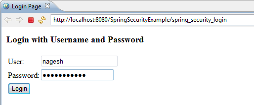 Spring Security Hello World Example - Login & Logout with Spring