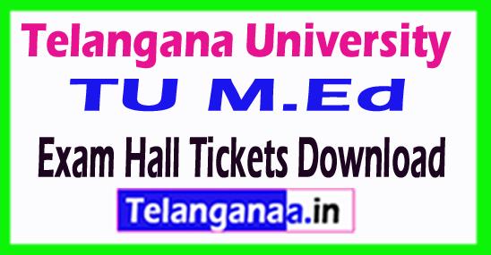 Telangana University TU M.Ed Exam Hall Tickets Download