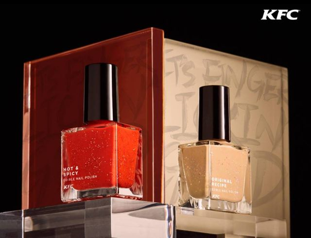 KFC Hong Kong Thinks Fried Chicken-Flavored, Edible Nail Polish ...