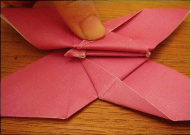 membuat love dari kertas origami