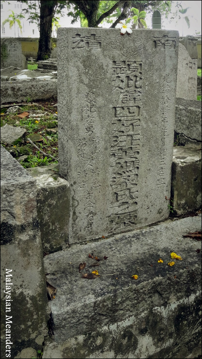 Old Protestant Cemetery, Penang, Chinese Christians