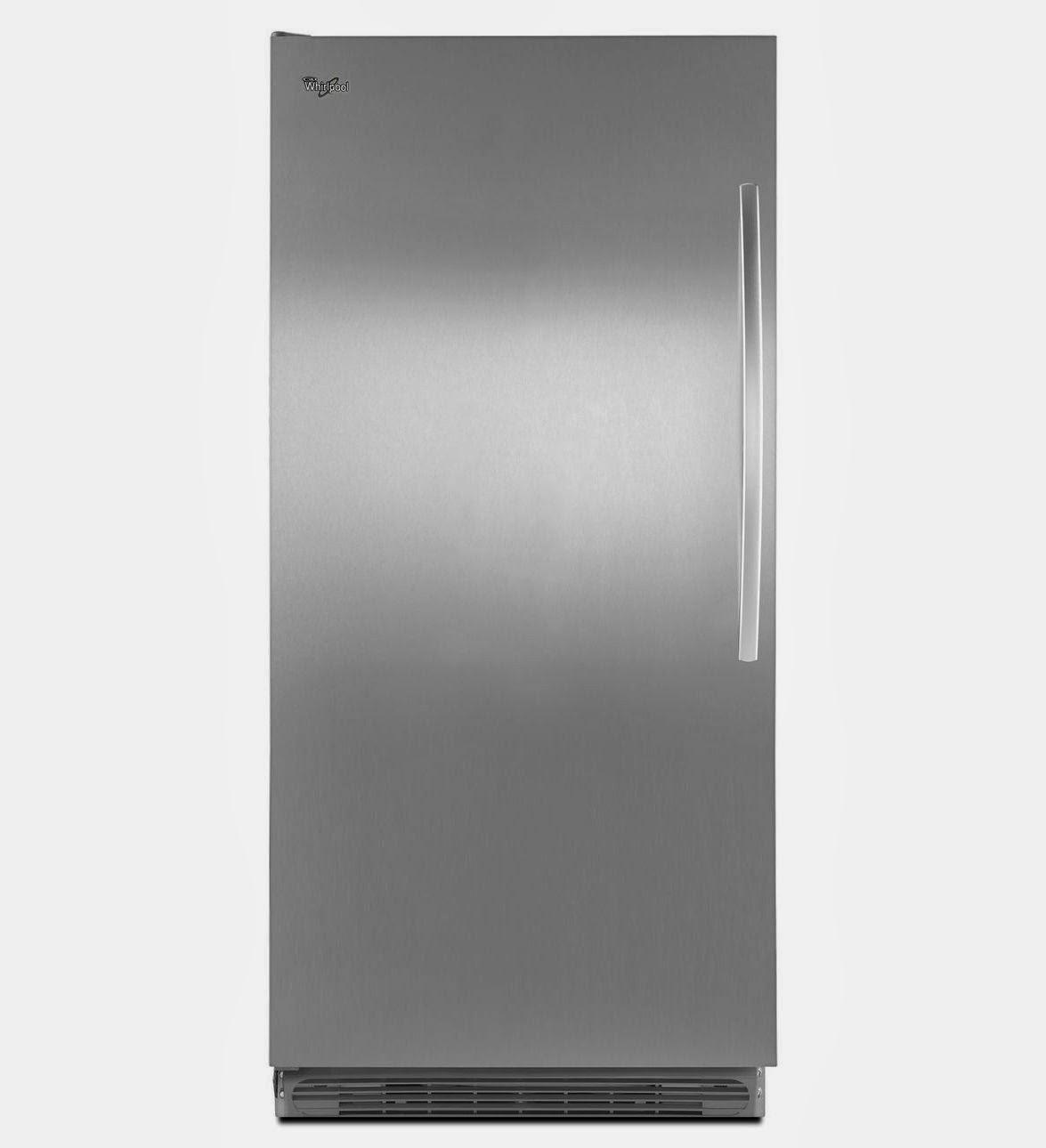 Whirlpool Top Freezer Refrigerator Whirlpool Refrigerator Brand: Sidekick Stainless Steel ...