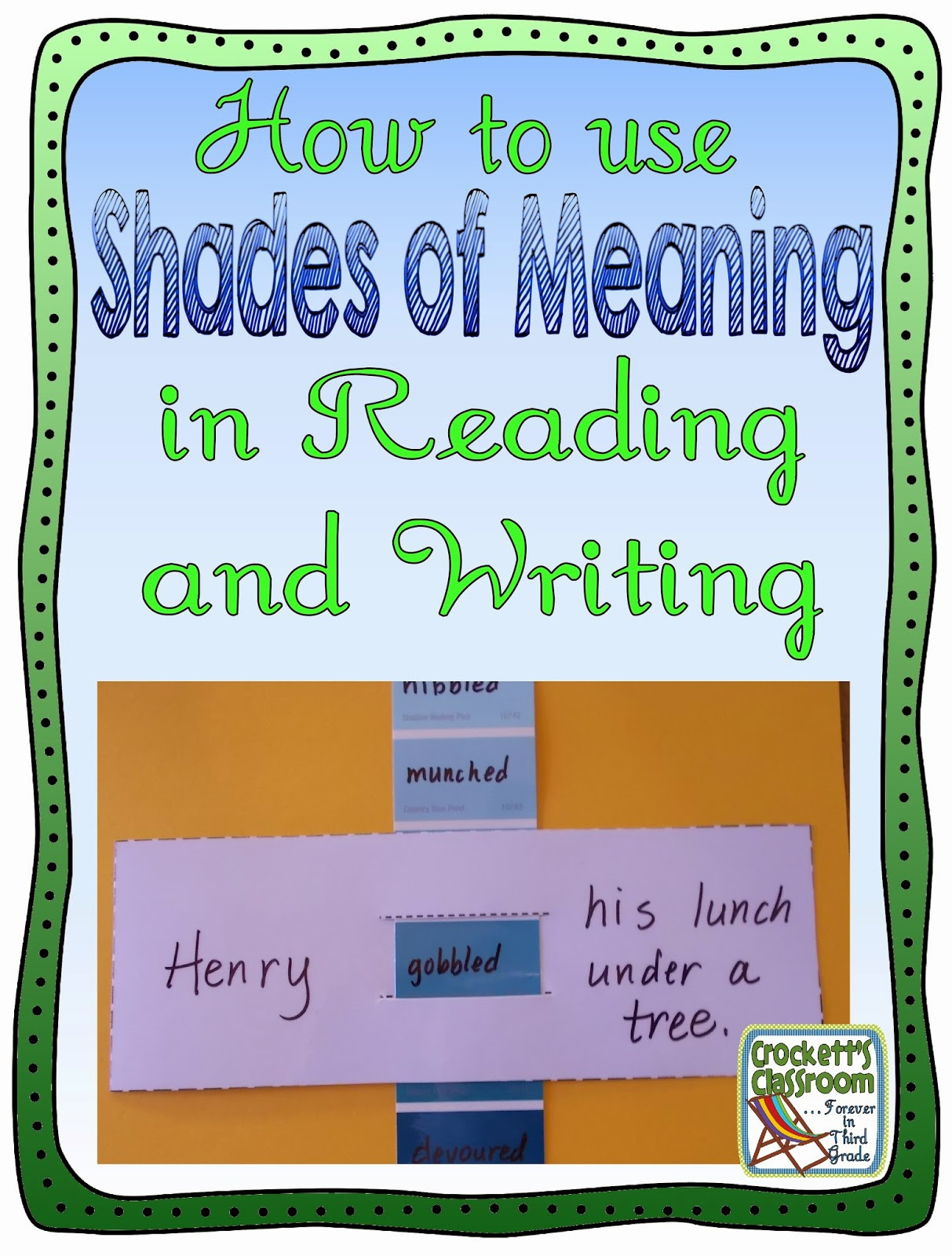 How to use Shades of Meaning in your Reading and Writing lessons.