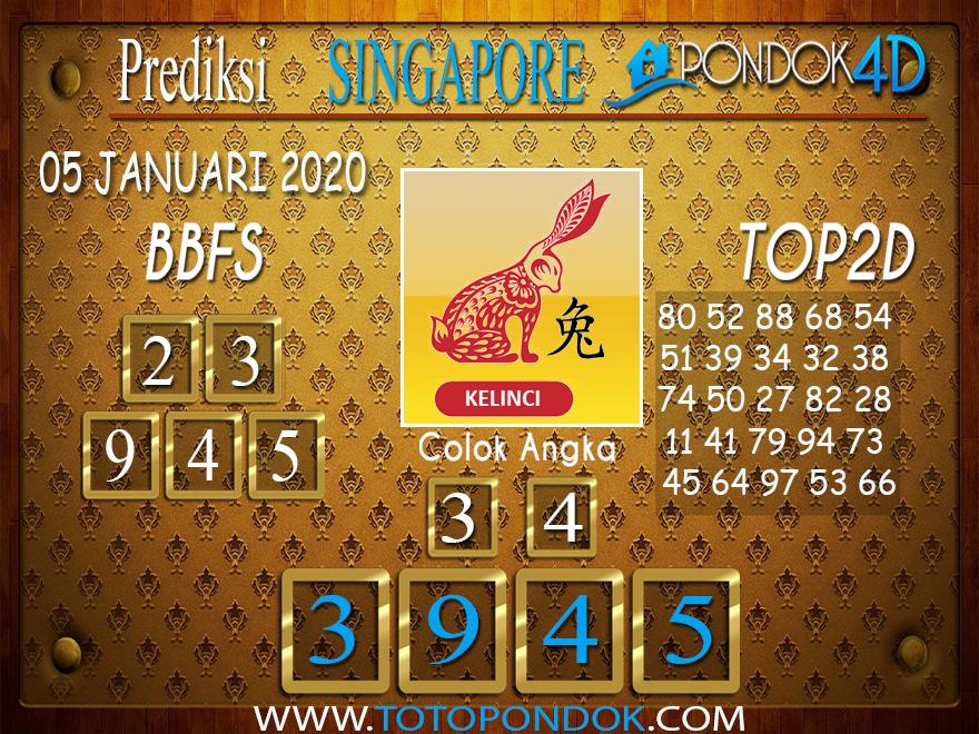 Prediksi Togel SINGAPORE PONDOK4D 05 JANUARI 2020