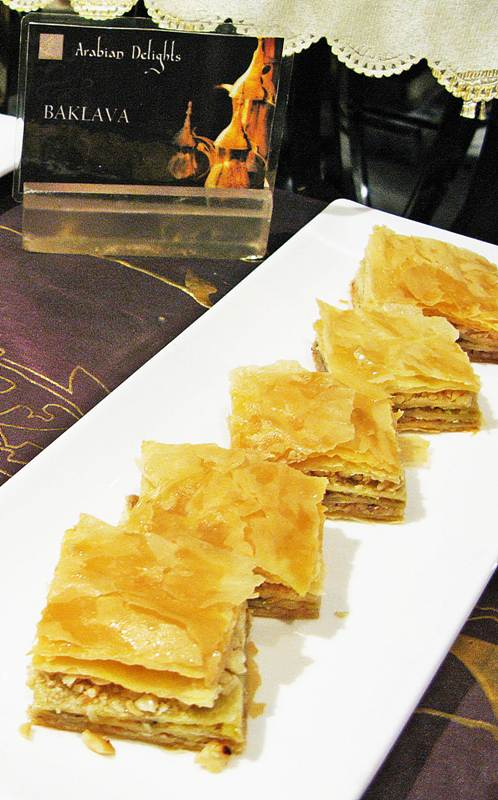 baklava Arabian Delights Buffet at Diamond Hotel's Corniche