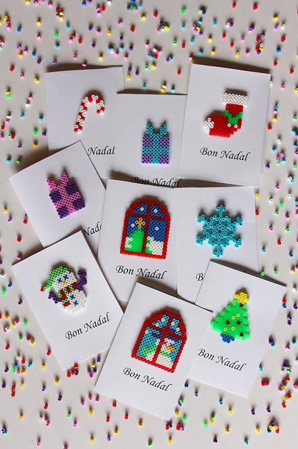 Felicitaciones Navidad Internet.Mardefiesta Tarjetas De Navidad Con Hama Beads
