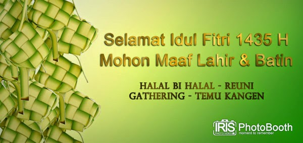 photo booth halal bi halal lebaran