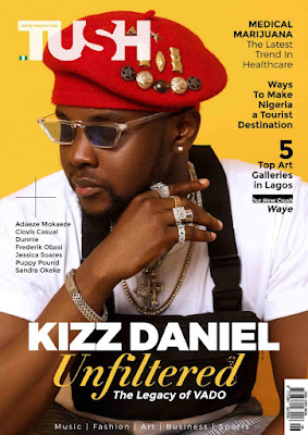 Kizz Daniel Rocks The Cover Page Of Tush Magazine's 21st Issue