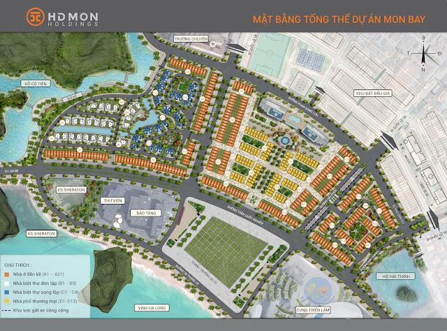 Mặt bằng phân khu dự án Mon Bay Hạ Long