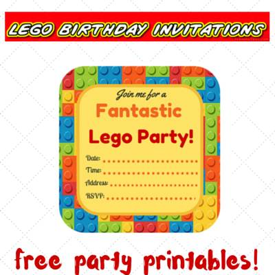 lego party printables, free printables, lego birthday invitations