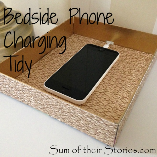 Bedside phone charging tidy