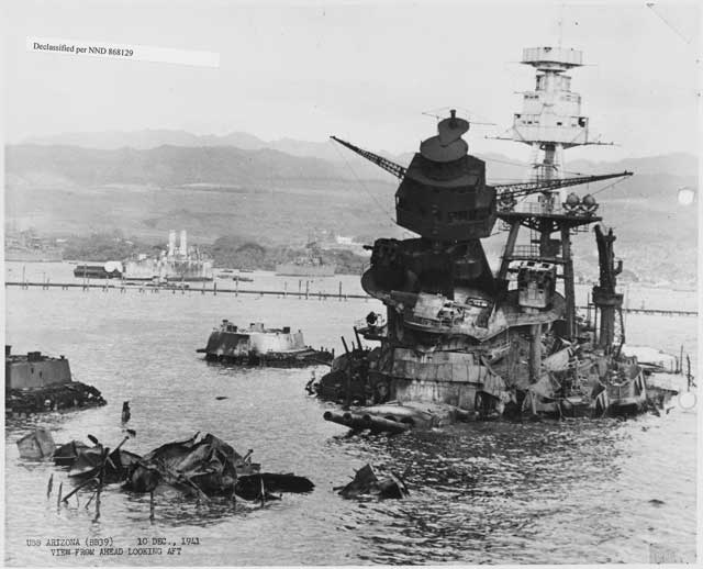 USS Arizona 30 December 1941 worldwartwo.filminspector.com