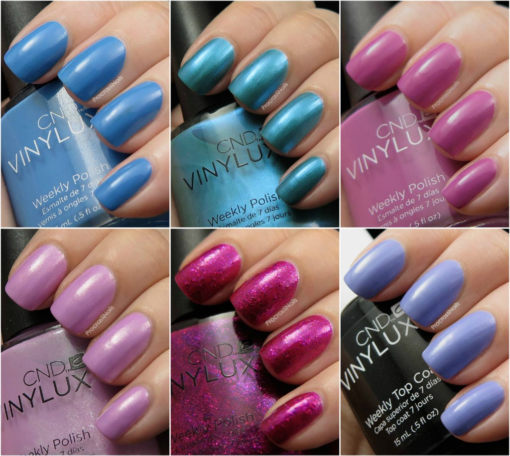 CND Vinylux Garden Muse Summer 2015 Collection Swatches